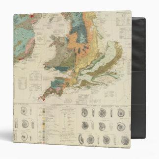 "Islas paleontológicas de Británicos del mapa Carpeta 1 1/2"""