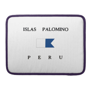 Islas Palomino Peru Alpha Dive Flag Sleeve For MacBook Pro