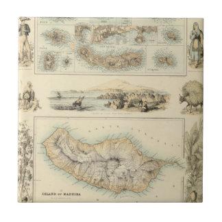 Islas portuguesas en el Océano Atlántico Azulejo Cuadrado Pequeño