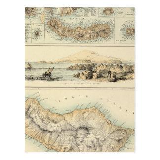 Islas portuguesas en el Océano Atlántico Postales