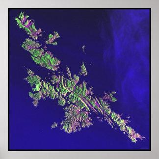 Islas Shetland Océano Atlántico del norte Posters