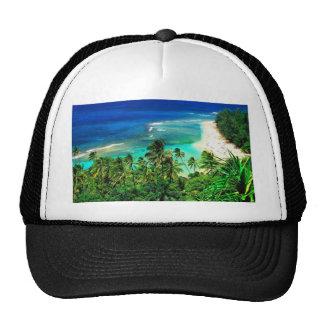 islas tropicales gorros bordados