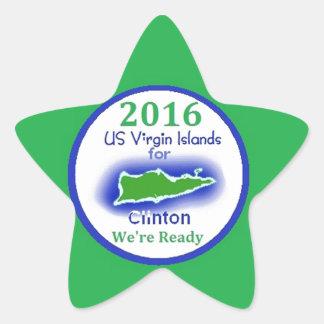 Islas Vírgenes 2016 de Clinton Pegatinas Forma De Estrella