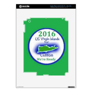 Islas Vírgenes 2016 de Clinton Pegatina Skin Para iPad 3
