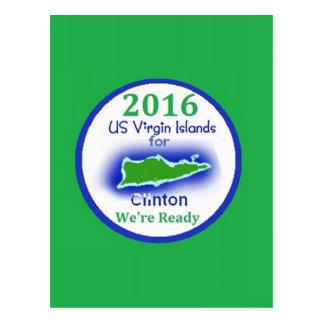 Islas Vírgenes 2016 de Clinton Tarjetas Postales
