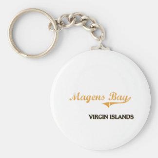 Islas Vírgenes de la bahía de Magens clásicas Llavero Redondo Tipo Pin