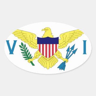 Islas Vírgenes de los E.E.U.U. Pegatina Ovalada