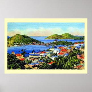 Islas Vírgenes de St Thomas del vintage Poster