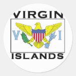 Islas Vírgenes Etiqueta Redonda