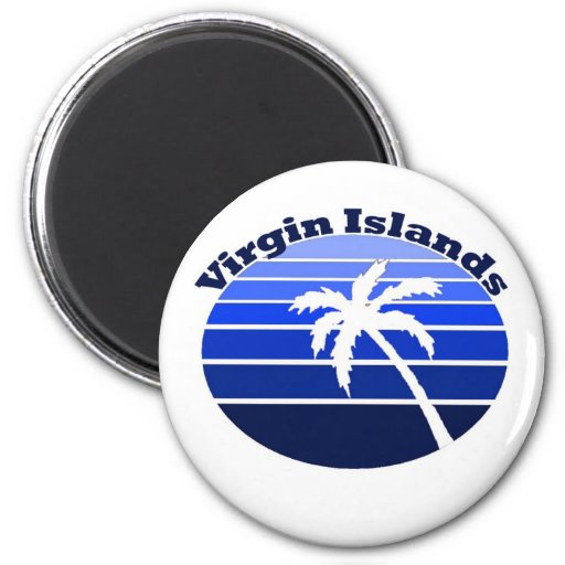 Islas Vírgenes Imán Redondo 5 Cm