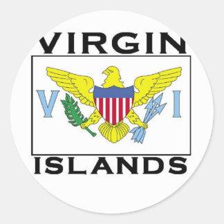 Islas Vírgenes Pegatina Redonda