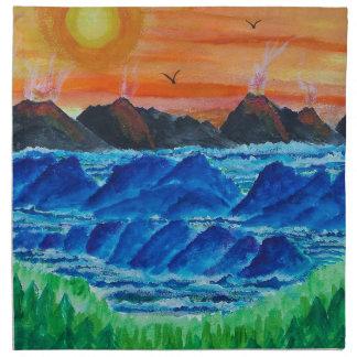 Islas volcánicas servilletas de papel