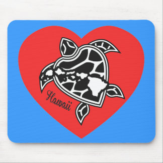 Islas y tortugas de Hawaii del amor Alfombrilla De Ratones
