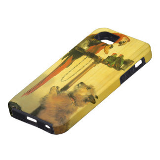 Islay, Tilco, a Macaw and Love Birds by Landseer iPhone SE/5/5s Case