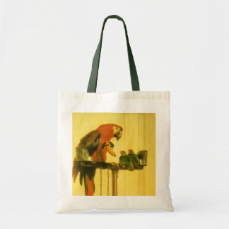 Islay, Tilco, a Macaw and Love Birds by Landseer Tote Bag