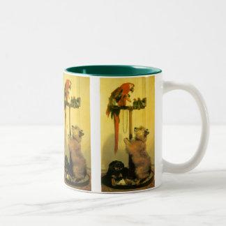 Islay, Tilco, un Macaw y pájaros del amor por Taza De Dos Tonos
