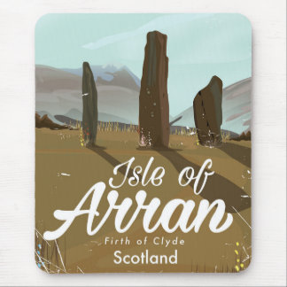 Isle of Arran vintage travel poster Mouse Pad