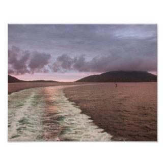 Isle of Barra from Sea Photo Print