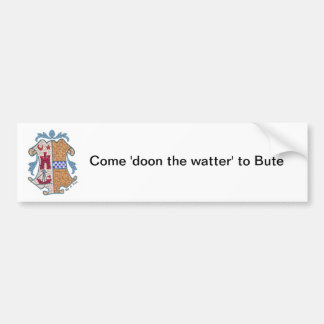 Isle of Bute Coat of Arms Sticker Car Bumper Sticker