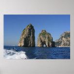 Isle of Capri, Faraglioni Poster