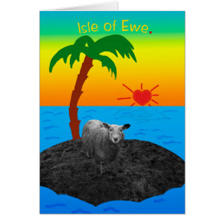 Isle of Ewe for Valentines Day Card