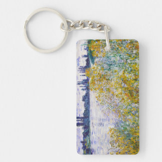 Isle of Flowers on the Seine near Vetheuil Keychain