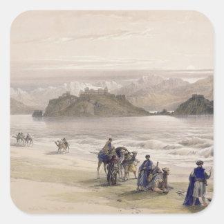 Isle of Graie, Gulf of Akabah, Arabia Petraea Square Sticker