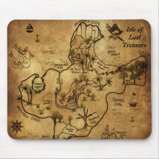 Isle of Lost Treasure Map Mouse Pad