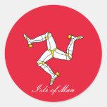 isle of man classic round sticker