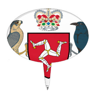 Isle of Man Coat of Arms Cake Topper