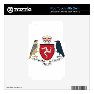 Isle of Man Coat of Arms - Manx Emblem iPod Touch 4G Decal