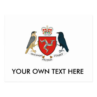 Isle of Man Coat of Arms Postcard