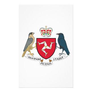 Isle of Man Coat of Arms Custom Stationery