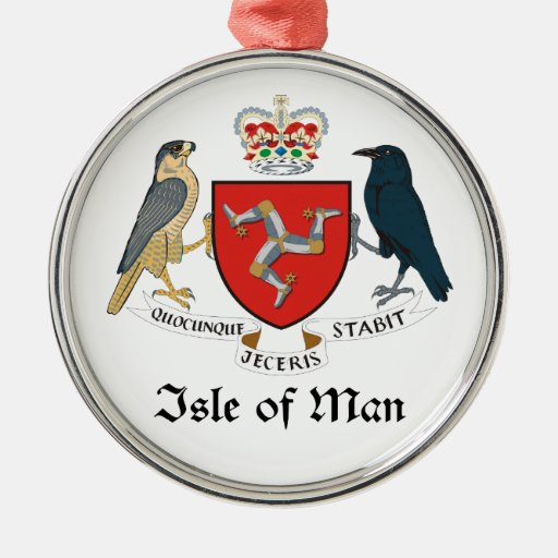 ISLE OF MAN - emblem/flag/symbol/coat of arms Christmas Tree Ornaments