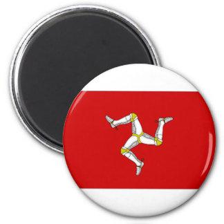 Isle of Man Flag 2 Inch Round Magnet