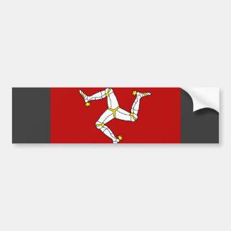 Isle Of Man Flag Car Bumper Sticker