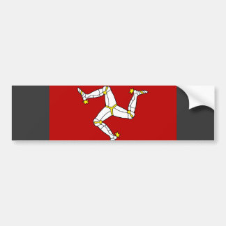 Isle Of Man Flag Bumper Sticker