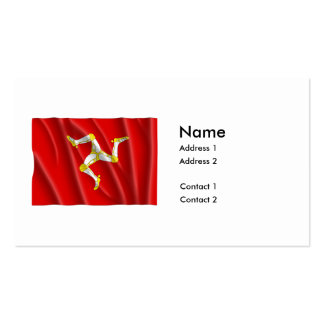 ISLE OF MAN FLAG Double-Sided STANDARD BUSINESS CARDS (Pack OF 100)