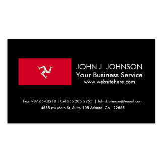 Isle of Man Flag Business Card