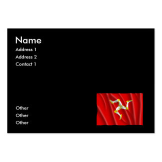 ISLE OF MAN FLAG LARGE BUSINESS CARDS (Pack OF 100)