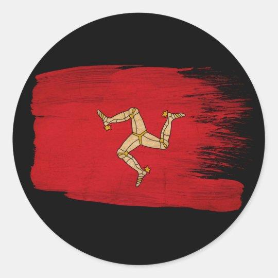 Isle of Man Flag Classic Round Sticker