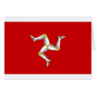 Isle of Man Flag Greeting Card