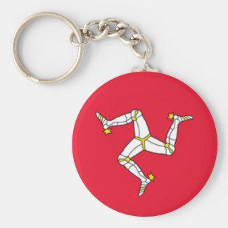 Isle of Man Flag Key Chain