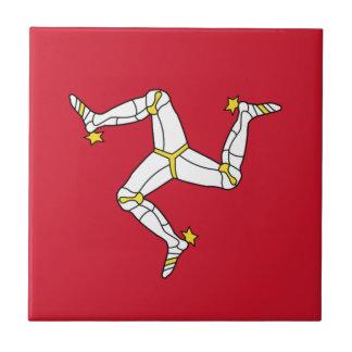 Isle of Man Flag - Manx Flag - Brattagh Vannin Ceramic Tile