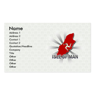 Isle Of Man Flag Map 2.0 Double-Sided Standard Business Cards (Pack Of 100)