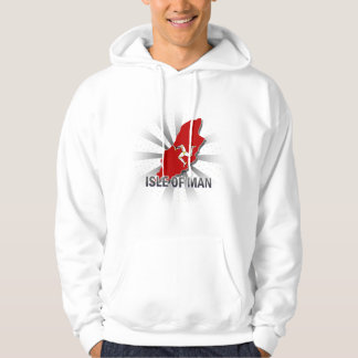 Isle Of Man Flag Map 2.0 Hooded Pullover