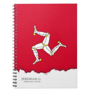 Isle of Man Flag Notebook