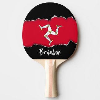 Isle of Man Flag Ping Pong Paddle
