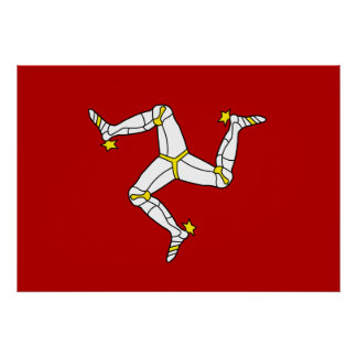 Isle Of Man Flag Posters