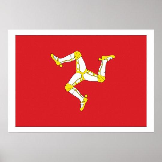 Isle of man Flag Poster
